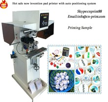 automatic box pad printer closed ink cup ear phone printing machine 2 colore tampograpy with positioning system