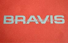 custom metal logo ,adhesive letters stickers