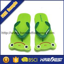Kids plastic animal slipper , kids wholesale flip flop,frog shape flip flop