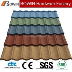 shingle roof tile building meterial /high quality resin roof tile /sand coated metal roofing tiles
