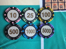 poker chip with tournament pro series