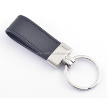 zinc alloy promotional metal keychain with PU