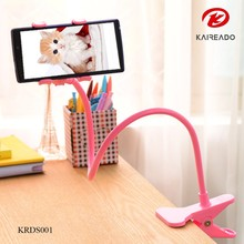 KAREADO 2015 hot sale creative flexible 360 degree rotation lazy cell phone stand plastic mobile phone holder