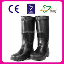 2015 CE certificate PVC lightweight food industry boot and rain boot with solid color