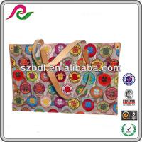 UV printing multicolor ladies water resistant beach bag online shopping
