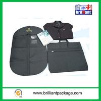 PEVA foldable men garment suit cover bag