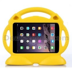 Cute Smiling Face Shockproof Stand Foam EVA Case for iPad Mini/2/3 Retina with Handle