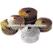 Manufacturering !Roofing Coil Nails,15 Degree Coating Coil Nails manufacturing coil roofing nail with rubber washer