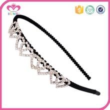 Sweet bridal crystal double heart wedding headband