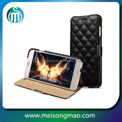 MSM leather mobile phone cover selling design cell phone cases manufacturer for iphone 6plus