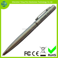 Hot new products for 2015 metal body ballpoint pens,imprint client's logo metal twist ball pen