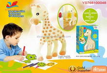 Cartoon animal kids erasable drawing board Giraffe projecror toy