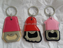 Can Be Customized Unique Bottle Opener with PU Leather Cover