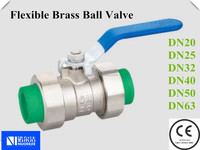 2015 PPR Flexible Brass Ball Valve For Water Piping Systems DN20