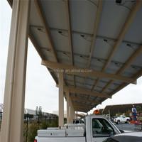 waterproof carport set of the solar structural carport aluminium solar car set