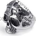 2015 stainless steel skull rings,Wholesale old fashioned stainless steel diamond skull wedding ring