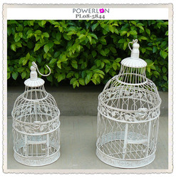 2015 Shabby Chic Wrought Iron Bird Cage Garden Decoration