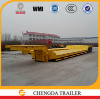 CCC certificated quality 50 ton semi-trailer price of low bed trailer trucks and trailers sales in Philippines