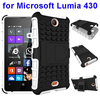 New Products Silicone and PC Shockproof Hybrid Kickstand Rugged Case for Microsoft Lumia 430