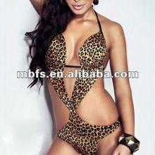 2012 sexy skimpy leopard print monokini swimwear
