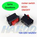 electrodomésticos en/spst interruptor basculante kcd1 eléctrico 2pins2posiciones etiquetas impulsar mini botón barco interruptor