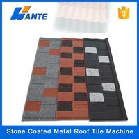 2015 Linyi Wante aluminum zinc plate colorful stone coated metal roofing