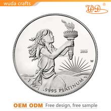 engraving 3D cubic antique zinc alloy mirror finish medalof honor Personalized Decoration Metal Coin
