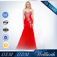 2015 New Fashion Western Style Red Bridal Lace Wedding Dresses