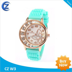 hottime diy watch wholesale new design silicone wristband watch colourful vogue fashion silicone watch