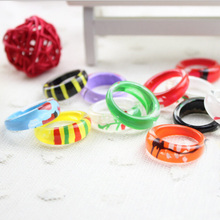 Songjon fine painted candy colored children rings ,painted ring five finger ring