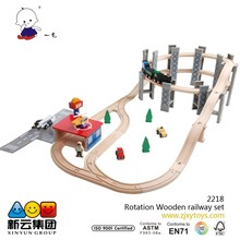 55pcs spiral wooden railway wood track train 2015 NEW