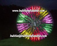 Inflatable Advertising/ Amusing Zorb Ball Glowing in Nights