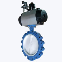 PN10 Pneumatic Operated PTFT Centerline Butterfly Valve for water