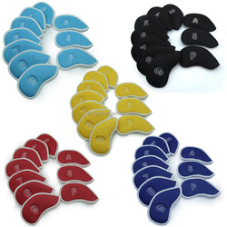 custom made golf iron cover mesh fabric iron cover set 10 pcs 3# - 9#, PW & SW & A iron cover