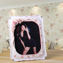 2015 plush flower home decor luxury white resin wall frame for wedding collage large 4 x 6 6 x 8 8 x 10 inch 644g post frame