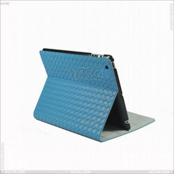 Knit Standing PU Leather Case for iPad 2/ 3/ 4 P-iPAD234CASE073