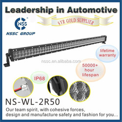 Factory price 50 inch 9-32V dual row CREE automobile car offroad led Light bar