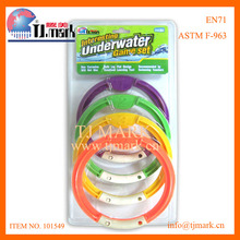 4PK COLORED SWIMMING POOL DIVING RINGS TOY