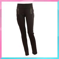 customized women slim skinny pants black trousers