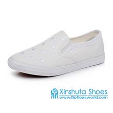 Wholesale China Women Buckle Strap Canvas Shoes
