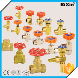 RX-1069 brass air flow control valve regulating angle needle valve pressure reduce stem gate valve