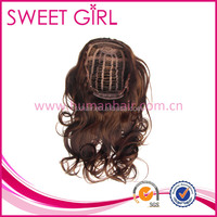 Fashionable smooth new natural curl human hair half wig