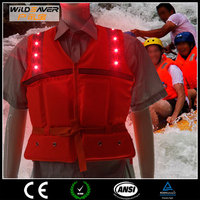 led reflective surfing life vest belt life jacket