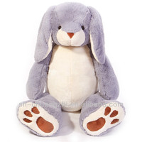 Oversized purple cute rabbit plush toys for kids gifts