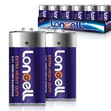 LONCELL Brand D size 1.5v r20 um1 carbon zinc primary &dry battery