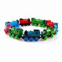 Child Funny Baby Train Engine Wooden 2 3 4 Pairs Of Wheels Thomas Friends Toy #27645