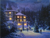 canvas prints with led lights ,painting with fiber optic lights wall art for christmas ,cheap china factory wholesale