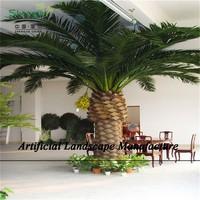 SJZJN 292 Decorative Date Palm Tree Fiberglass Trunk and Plastic Leaves Made in China