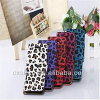 Leopard grain leather case for iphone 4/4S