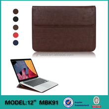 Executive Genuine leather laptop bag sleeves case for Macbook 12 inch